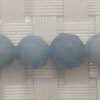 Gemstone angelite beads, Faceted round, Approx 8mm, Hole: Approx 1mm, 49 pieces per strand, Sold by strands