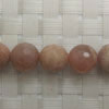 Gemstone sunstone beads, Faceted round, Approx 10mm, Hole: Approx 1mm, 40 pieces per strand, Sold by strands