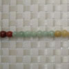 Gemstone multi-colored jade beads, Smooth round, Approx 6mm, Hole: Approx 1mm, 65 pieces per strand, Sold by strands