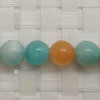 Gemstone multi-colored amazonite beads, Smooth round, Approx 8mm, Hole: Approx 1mm, 49 pieces per strand, Sold by strands