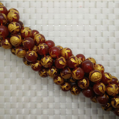 Carved Round Beads