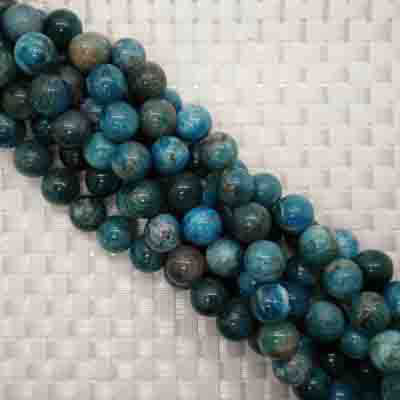 Gemstone apatite beads, Smooth round, Approx 12mm, Hole: Approx 1mm, 33 pieces per strand, Sold by strands