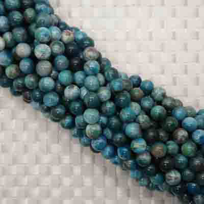 Gemstone apatite beads, Smooth round, Approx 8mm, Hole: Approx 1mm, 47 pieces per strand, Sold by strands