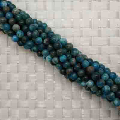 Gemstone apatite beads, Smooth round, Approx 6mm, Hole: Approx 1mm, 62 pieces per strand, Sold by strands