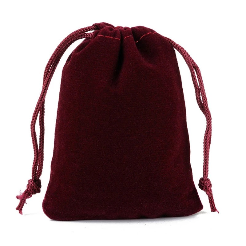 Jewelry drawstring velveteen gift pouch, Approx 70x90mm, Various colors are available, Accept customized orders, Sold by pieces