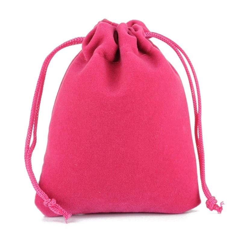 Jewelry drawstring velveteen gift pouch, Approx 90x120mm, Various colors are available, Accept customized orders, Sold by pieces