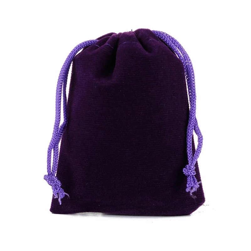 Jewelry drawstring velveteen gift pouch, Approx 100x200mm, Various colors are available, Accept customized orders, Sold by pieces