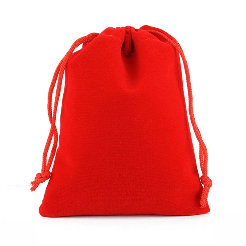 Jewelry drawstring velveteen gift pouch, Approx 120x150mm, Various colors are available, Accept customized orders, Sold by pieces