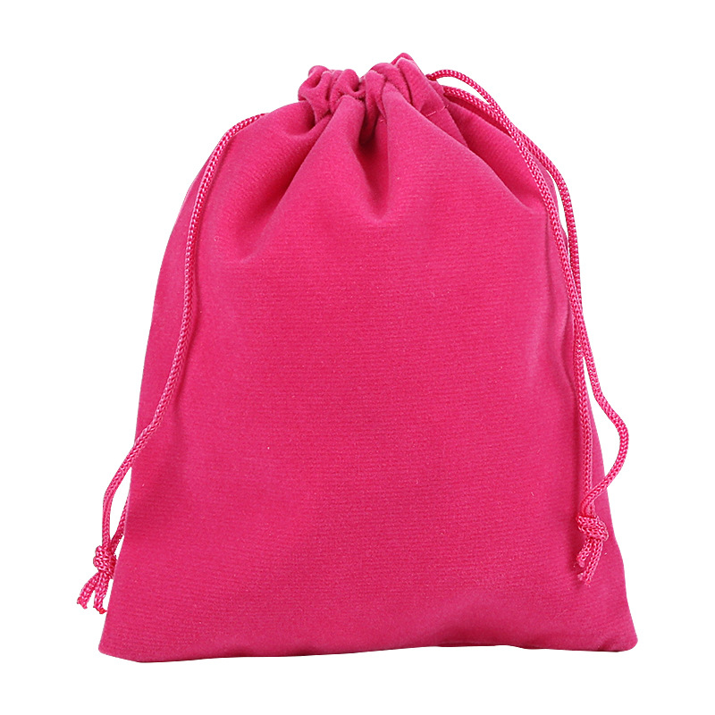 Jewelry drawstring velveteen gift pouch, Approx 300x400mm, Various colors are available, Accept customized orders, Sold by pieces