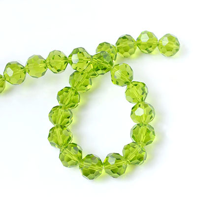 4mm faceted round crystal beads in assorted colors for DIY jewelry, 32 facets, Hole: Approx 1mm, Sold by strands