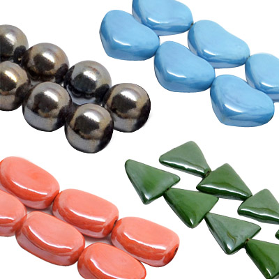 Pearlized Ceramic Beads